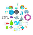 undertaking icons set cartoon style vector image vector image