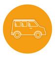 van vehicle isolated icon vector image vector image