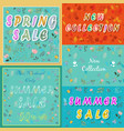 vintage cards with floral frames and texts vector image vector image