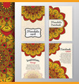 vintage invitation and background design vector image vector image