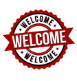 welcome label or sticker vector image vector image