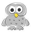 white owl on white background vector image vector image