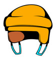 yellow hockey helmet icon icon cartoon vector image vector image