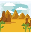 desert landscape isolated icon design vector image