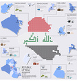 Dot And Flag Map Of Republic Of Iraq Infographic vector image