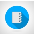 Flat icon for notebook vector image