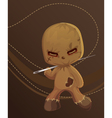 Cute Scary Rag Doll Monster vector image