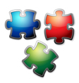 glossy puzzle vector image