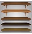 - Wood Shelves vector image