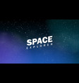 background an infinite space with stars vector image vector image
