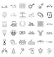 balloon icons set outline style vector image vector image