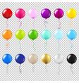 balloons big set vector image vector image