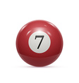 Billiard seven ball isolated on a white background vector image