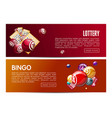 bingo lotto lottery web banners templates set vector image vector image