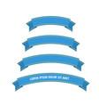 blue web ribbon banners set vector image vector image