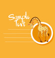 card template with cute giraffe vector image vector image