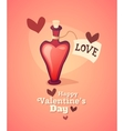 Cartoon love potion icon heart shaped with letter vector image vector image