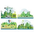 Cartoon map with different landscape vector image vector image