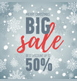 christmas sale bannerbig sale 50holiday discount vector image vector image