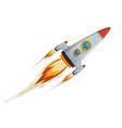 comic rocket ship vector image