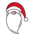 cute santa claus kawaii character vector image vector image