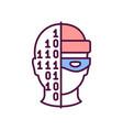 cyber crime rgb color icon vector image