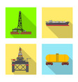design of oil and gas icon collection of vector image