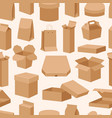 different boxes packseamless pattern warehouse vector image vector image