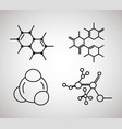 dna molecule structure set vector image