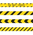 Do not cross the line caution tape