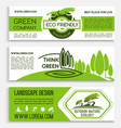 ecology banner template for green business design vector image