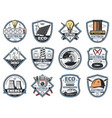 electricity engineering business service icons vector image