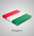 European flags set - Hungary vector image