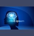 female brain neurons activity medicine thinking vector image vector image