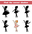 find correct shadow game for children vector image vector image