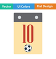 Flat design icon of football calendar vector image vector image