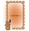 Frame with basketball and snowman vector image vector image