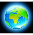 glossy earth map globe vector image