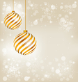 Golden spiral christmas balls vector image