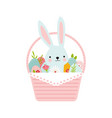 happy easter greeting card or a posters with vector image vector image