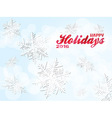 Happy holiday 2016 snowflakes background vector image vector image