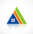house triangle construction abstract logo vector image vector image