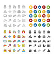 kids toys icons set vector image