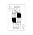 king of hearts french playing cards related icon vector image