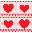 Knitted textile decorative valentine hearts vector | Price: 1 Credit (USD $1)