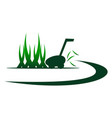 lawn mower service vector image