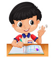 Little boy counting with fingers vector image vector image