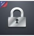 Lock icon symbol 3D style Trendy modern design vector image vector image
