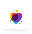 love heart creative logo concepts abstract vector image