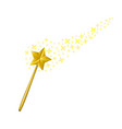 magic wand with stars vector image